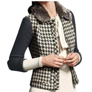 CAbi Houndstooth Mixer Cardigan Sweater Jacket 978